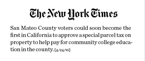 NYT San Mateo clip